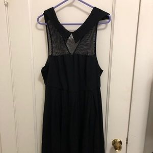 Mesh Collared Cocktail Dress